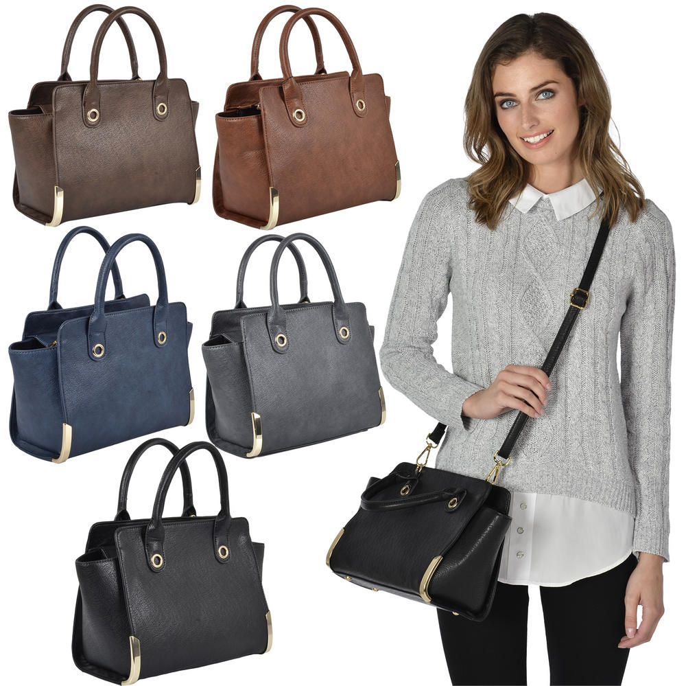 Ladies Ohio PU Leather Handbag Fashion Shoulder Bag Style Purse Women Preview
