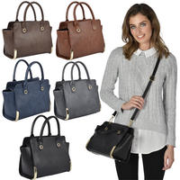 Ladies Ohio PU Leather Handbag Fashion Shoulder Bag Style Purse Women