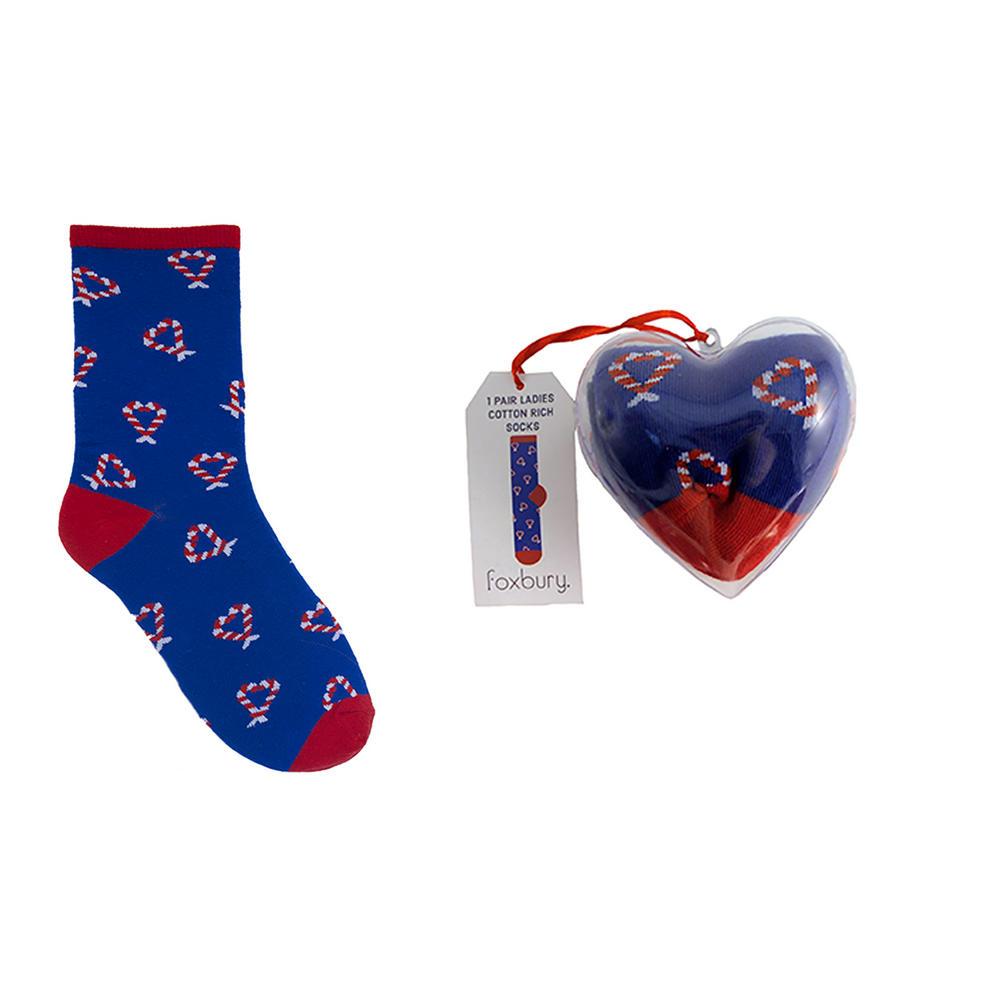 Womens 1 Pair Cotton Rich Socks Gift Set Christmas Bauble ...