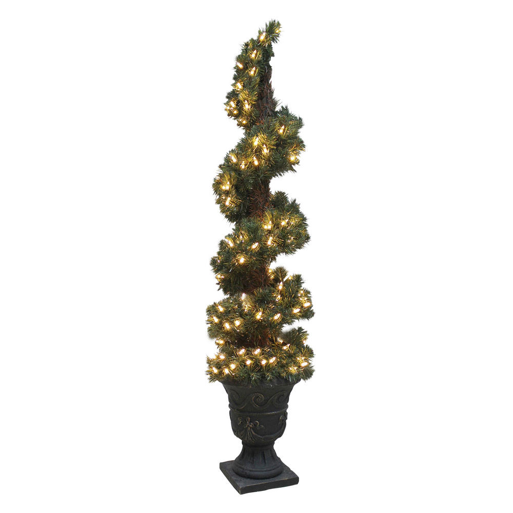 Pre Lit Artificial Spiral Shaped Christmas Tree Indoor Outdoor: outdoor christmas tree photos