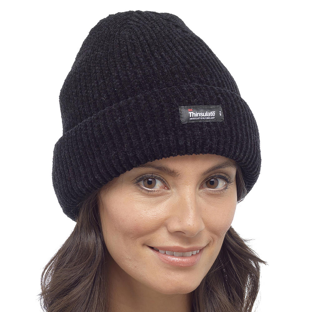 thinsulate heat guard womens chenille beanie hat with