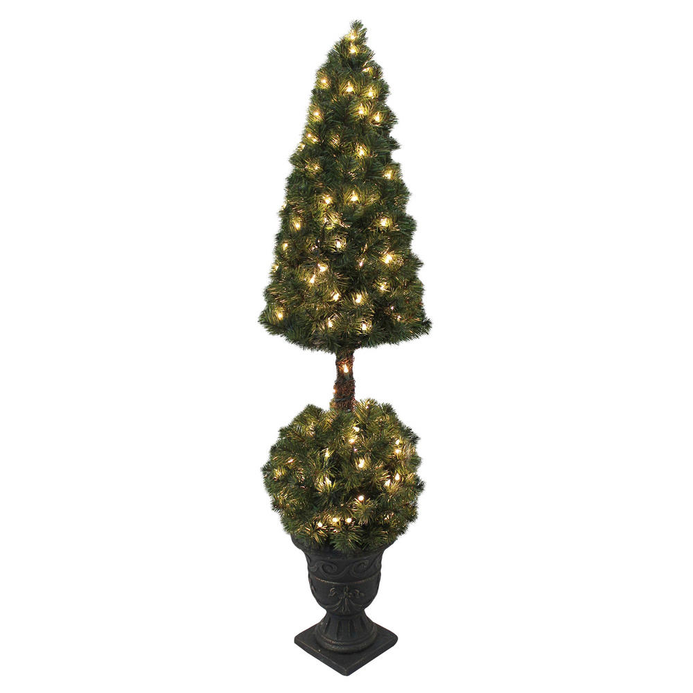 Premium pre lit artificial topiary xmas tree indoor outdoor Outdoor christmas tree photos