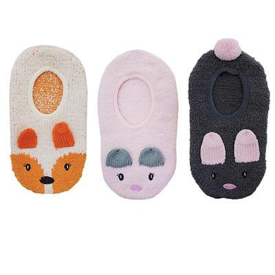 Foxbury Novelty Womens Slipper Socks Animal Design Non-Slip Sole