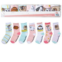 7 Pairs Secret Life of Pets Assorted Socks Girls Boys Kids Official
