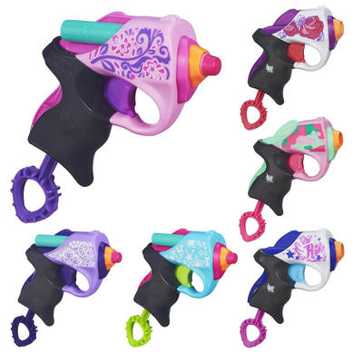 Nerf Rebelle Mini Blaster Gun With 2 Foam Darts Girls Toy Age 8+