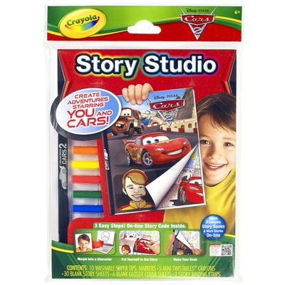 Crayola Story Studio Disney Pixar Cars Colouring Story Book Kit