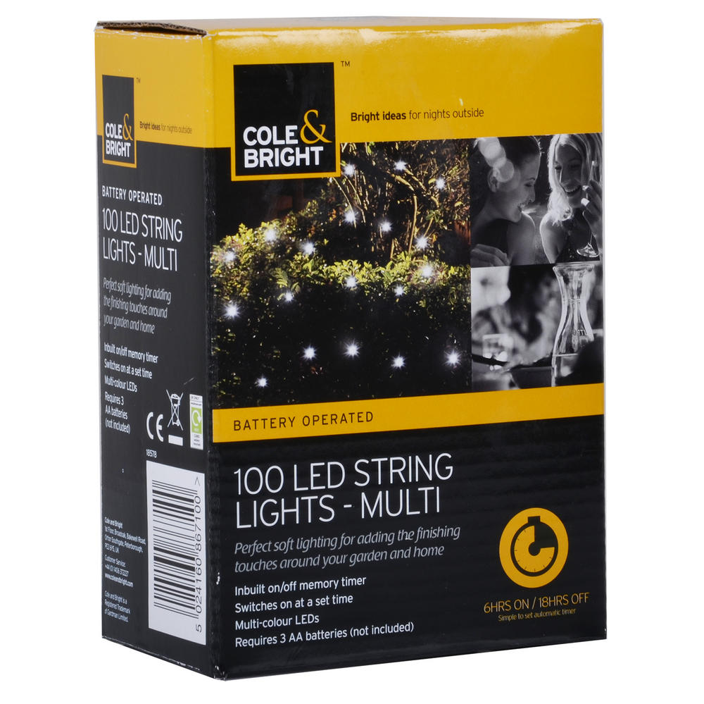 Led String Lights Indoor Battery : 100 Battery Operated White LED Light String Timer Indoor Outdoor Home Office