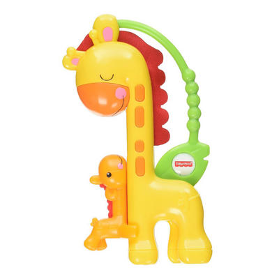 Fisher Price Giraffe Slider Rattle Baby Easy Grip Toy Age 3m+