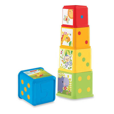 Fisher Price Stack And Explore Building Blocks Baby Toy Age 6-36m