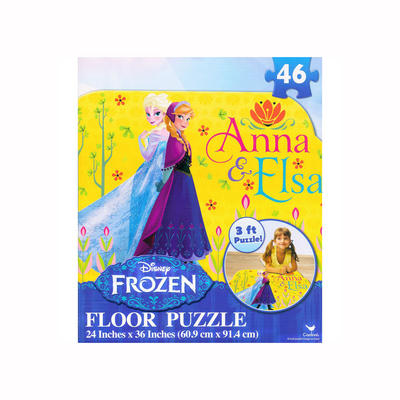 Disney Frozen Giant Floor Jigsaw Puzzle 3ft Anna Elsa 46 Pieces