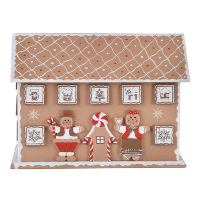Wooden Gingerbread House Christmas Advent Calendar Xmas Decoration