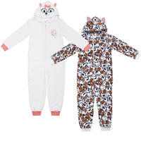 Kids Fleece Hooded Onesie Secret Life Of Pets Max Gidget Sleepsuit PJs