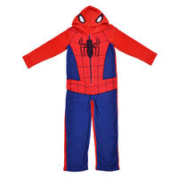 Kids Fleece Spiderman Onesie Sleepsuit Pyjamas Official Marvel Boys