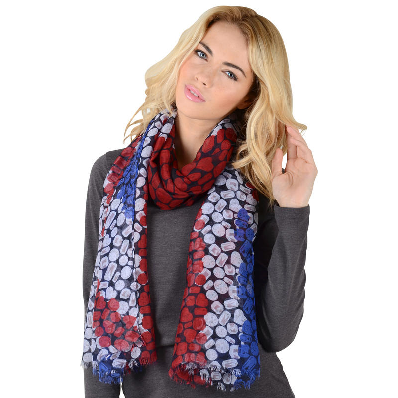 union lightweight sheer print scarf