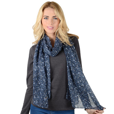 CANNES - Ladies Floral Lightweight Sheer Print Scarf