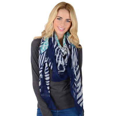 ZAMBIA - Ladies Animal Square Lightweight Sheer Print Scarf
