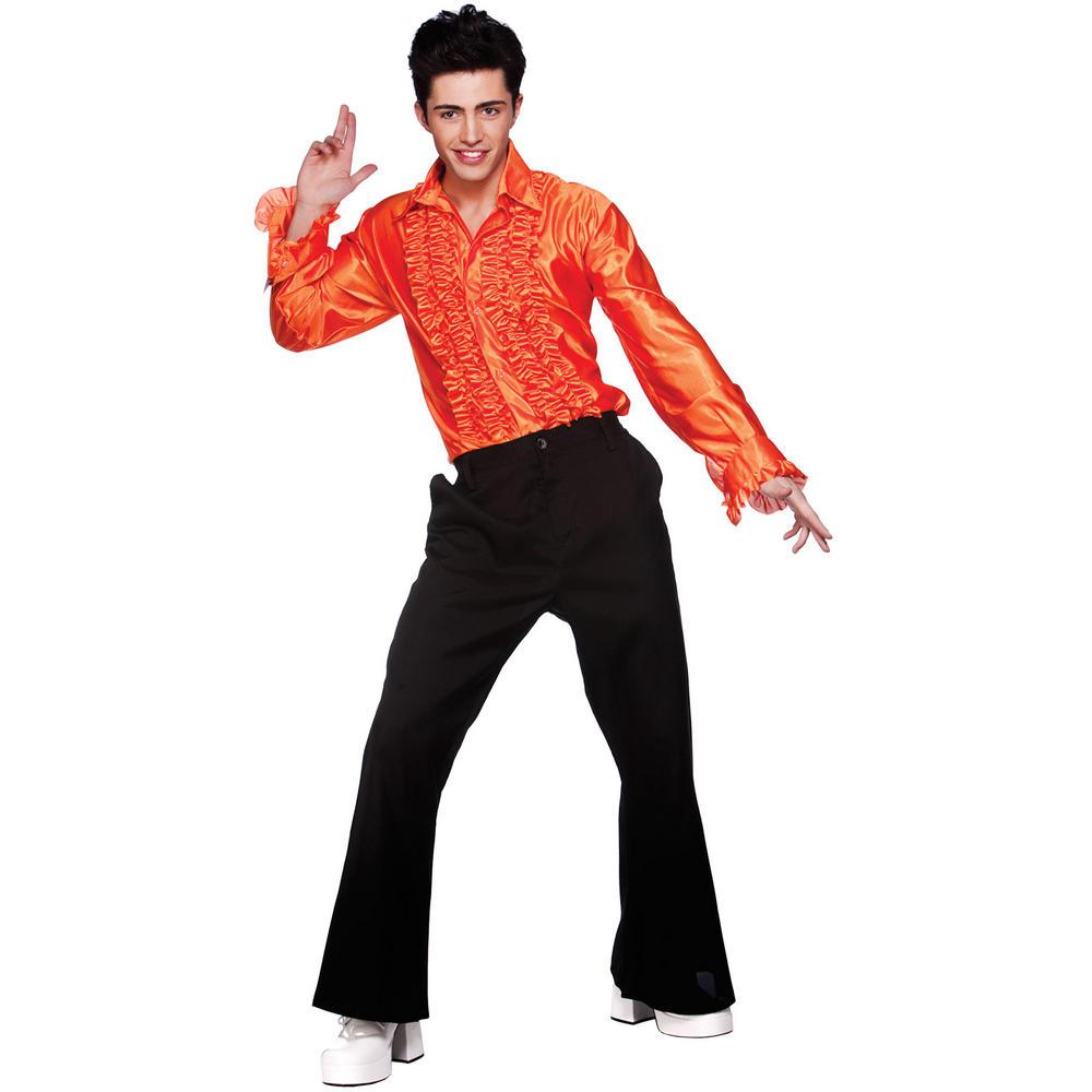 Red dress shirt mens 80s costume