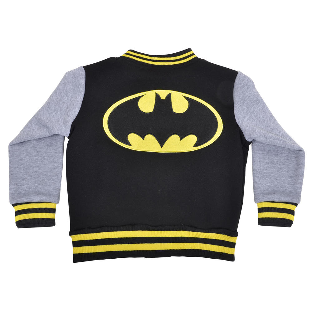 Boys Kids Batman Superman Baseball Jacket Superhero Sweatshirt Coat