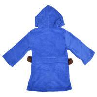 Boys Fleece Marvel Superheroes Dressing Gown Hooded Bathrobe Blue Red Thumbnail 5