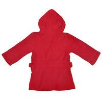 Boys Fleece Marvel Superheroes Dressing Gown Hooded Bathrobe Blue Red Thumbnail 6