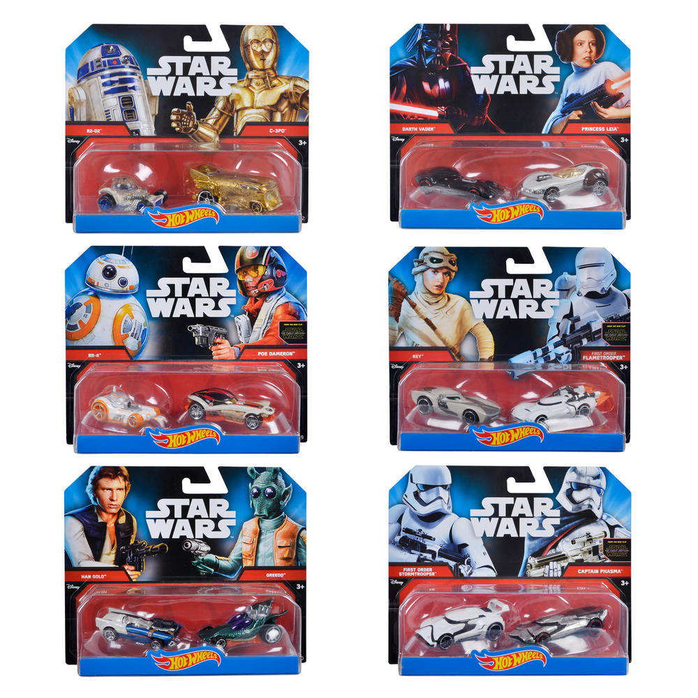Star Wars Characters Toys : Hot wheels disney star wars pk die cast character car toy