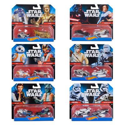 Hot Wheels Disney Star Wars 2PK Die Cast Character Car Toy Age 3+