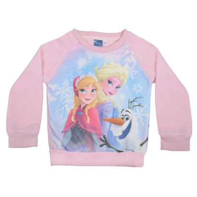 Girls Disney Frozen Pink Xmas Christmas Jumper Sweater