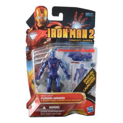 "Fushion Armour - 4"" Iron Man 2 Action Figure Tony Stark Comic Superhero"