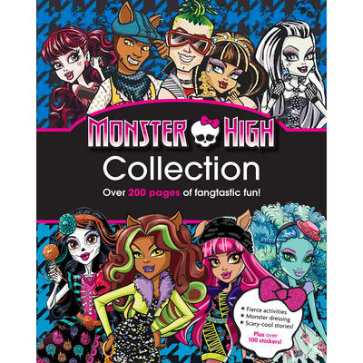 Monster High Collection Book Stickers Stories Fashion Fun