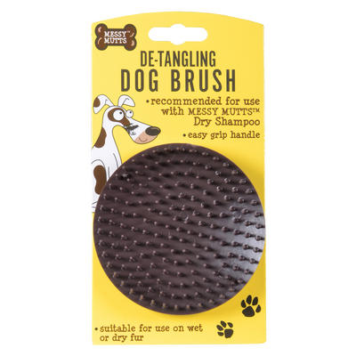 Dog Brush For Dry Shampoo Messy Mutts De-Tangling Grooming