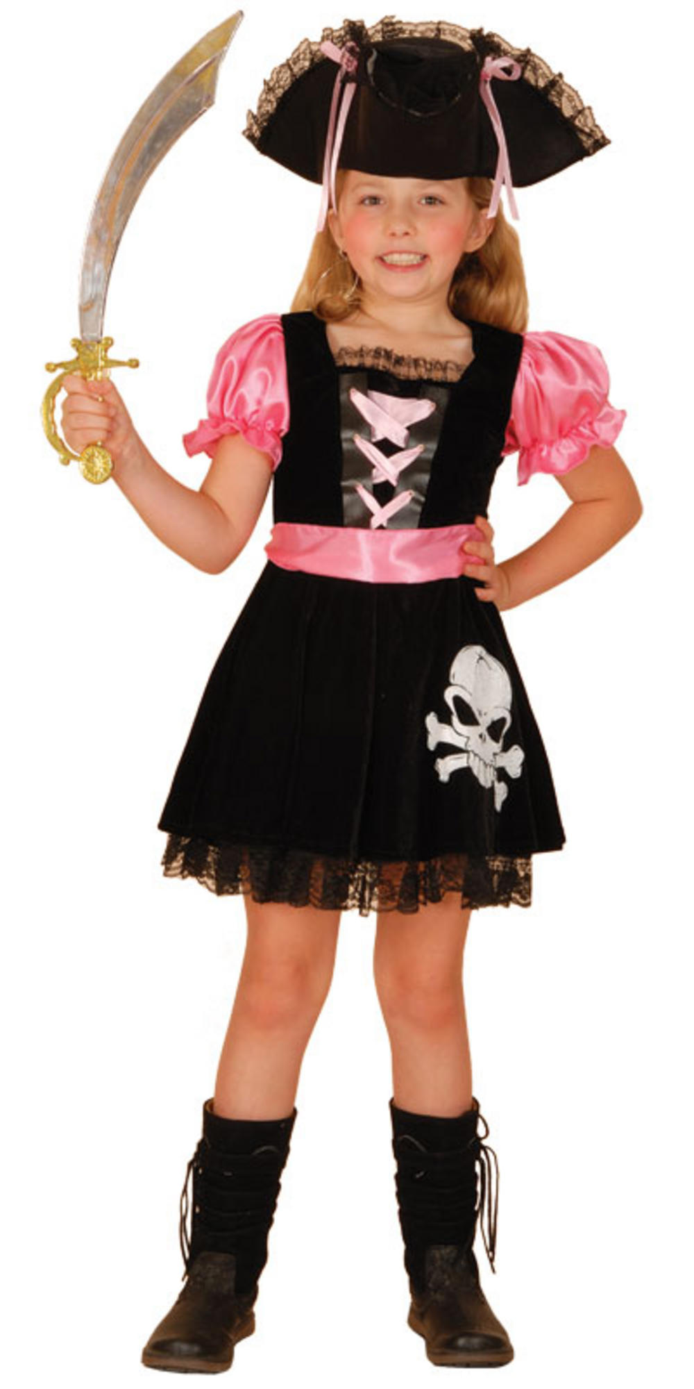 pretty pink pirate girls fancy dress halloween costume. Black Bedroom Furniture Sets. Home Design Ideas