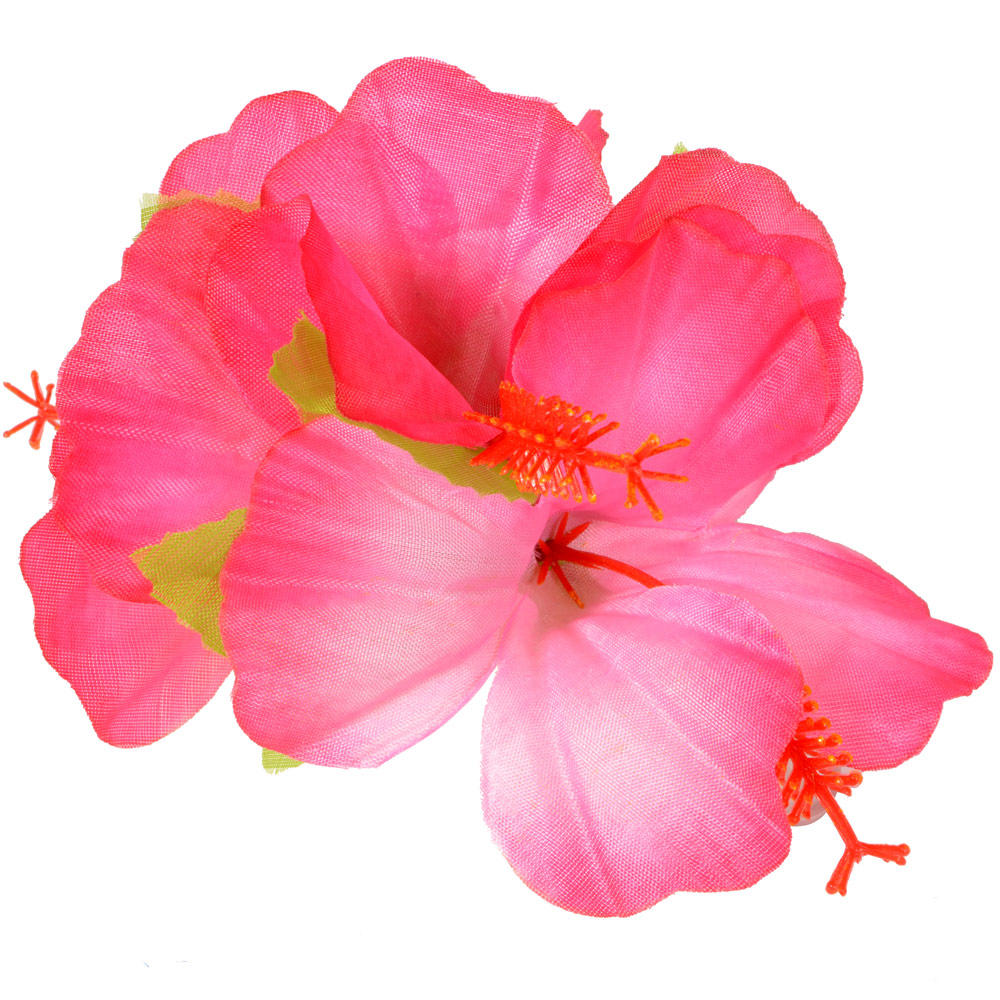 Hawaiian Hula Luau Theme Fancy Dress Accessory Hibiscus Flower Hair Clip Preview