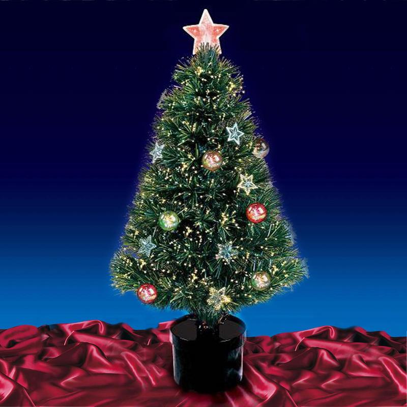 Beautiful 32 80cm Green Fibre Optic Christmas Tree With