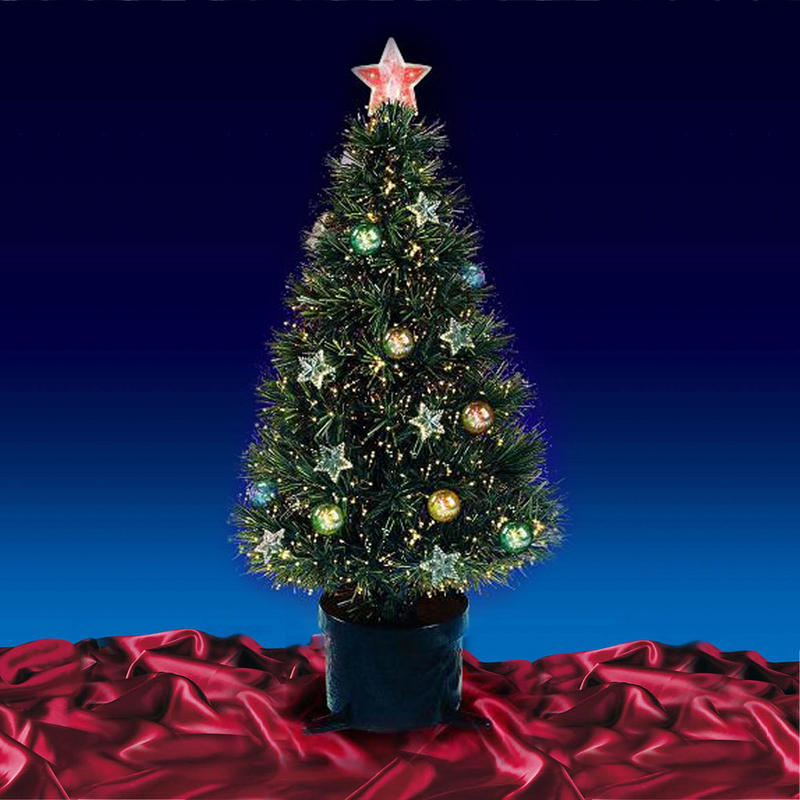 Beautiful 5ft 150cm Green Fibre Optic Christmas Tree With