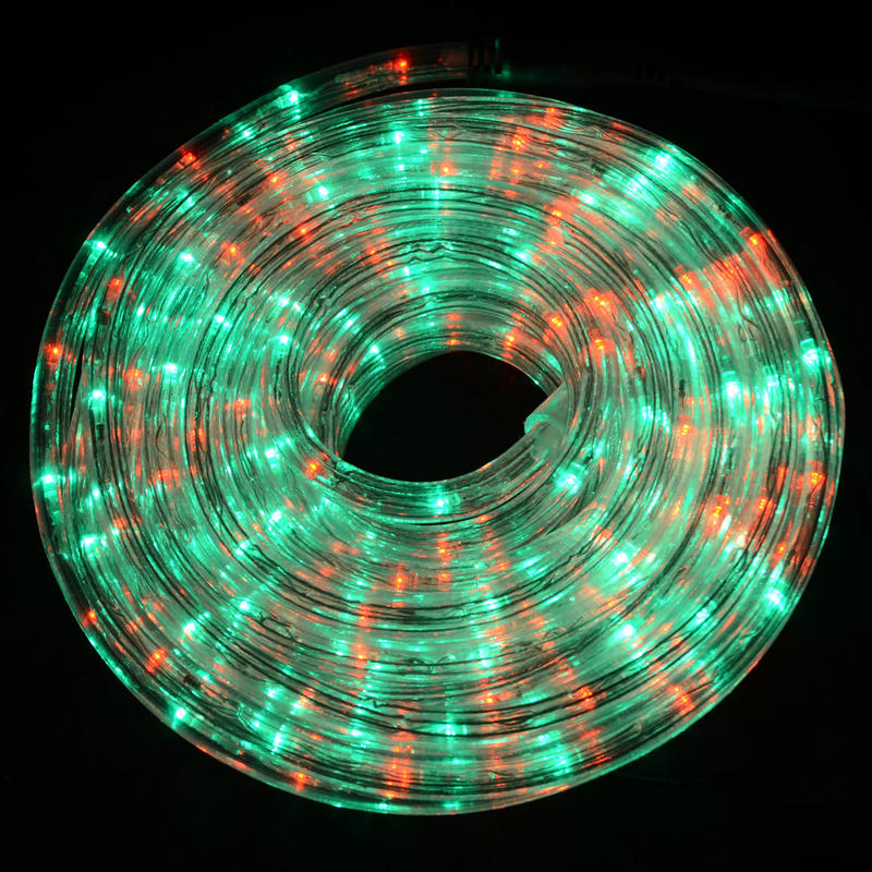 6m bright red green led rope light decoration garden commercial