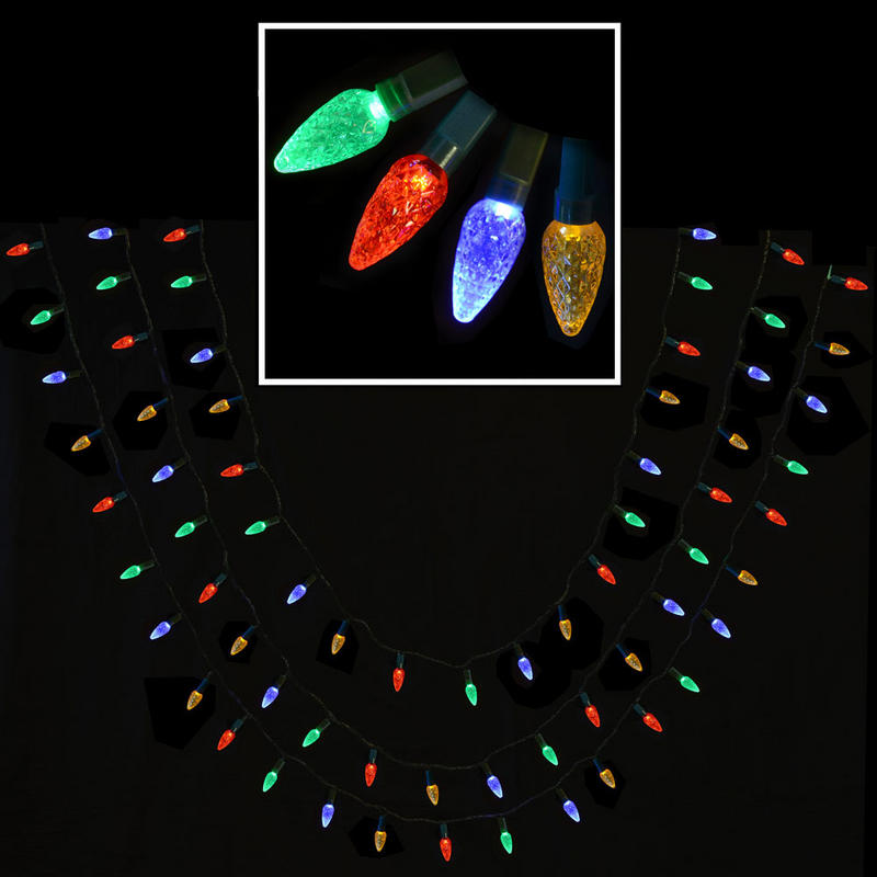 80 Bulb Multi Action Multi Coloured Led Cone Lights Indoor