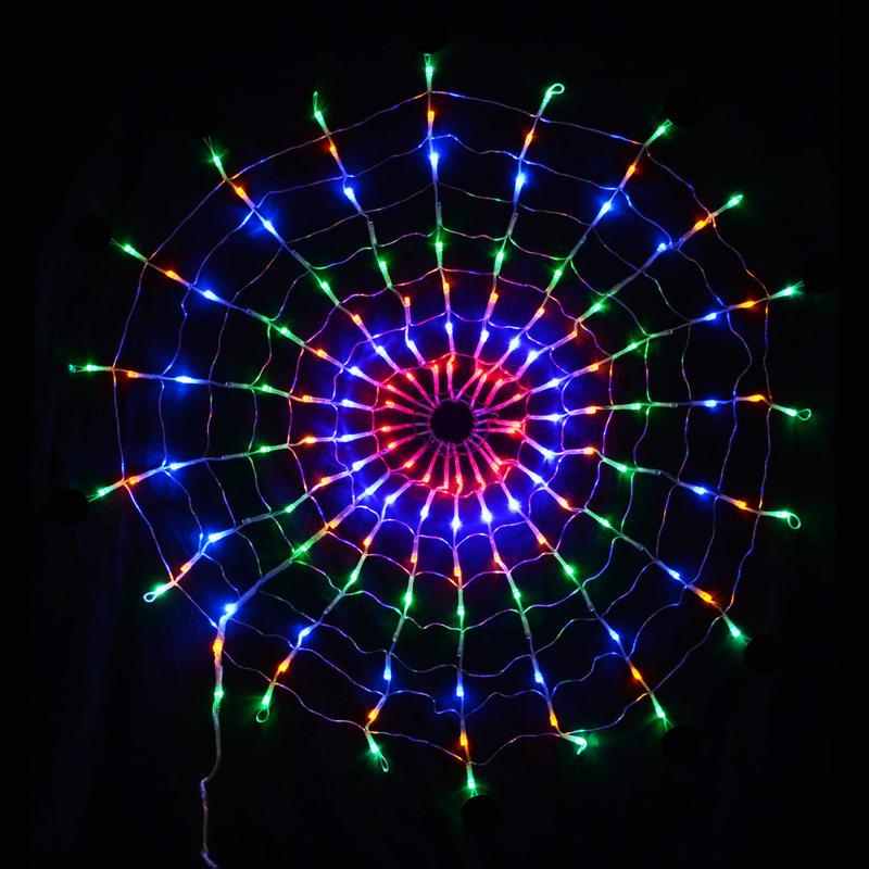 160 LED Multi Coloured Circular Net Light