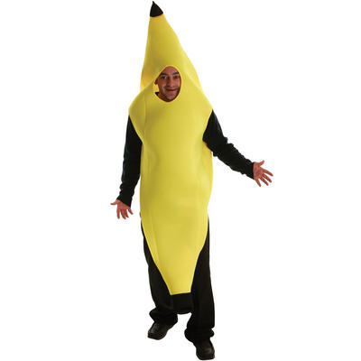 Adults Yellow Barmy Banana Man Fancy Dress Up Party Hallowen Costume