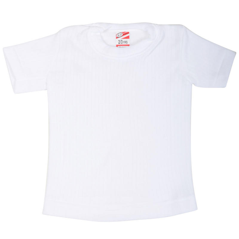 Kids thermal underwear t shirt top white age 9 11 new for White thermal t shirt
