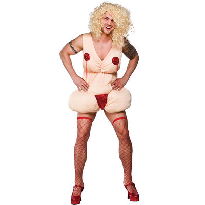 Burlesque Betty Stripper Fun Padded Fancy Dress Up Party Halloween Stag Costume