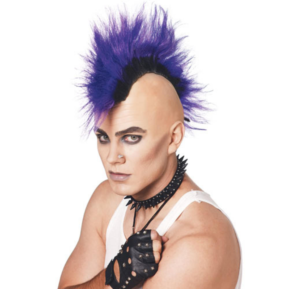 Awe Inspiring Pmg Adult 70S 80S Style Purple Punk Rocker Mohawk Mohican Short Hairstyles For Black Women Fulllsitofus