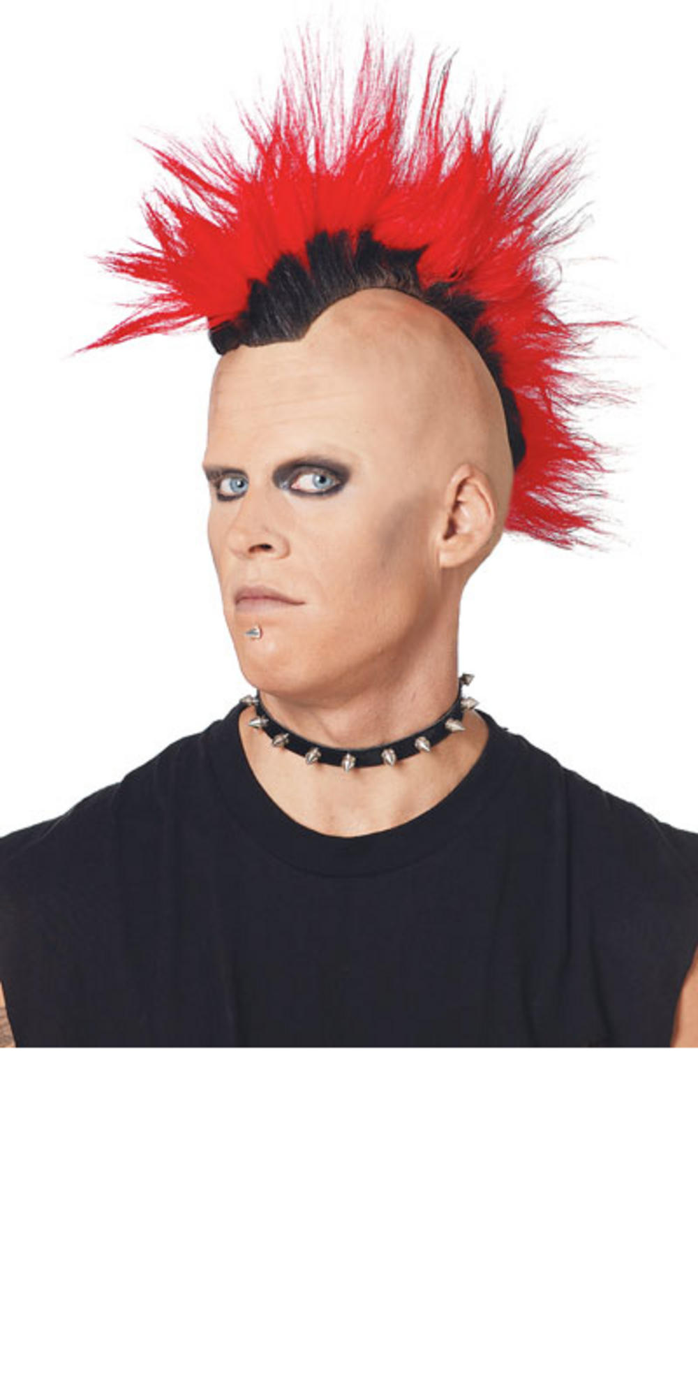 pmg adult 70s 80s style red punk rocker mohawk mohican