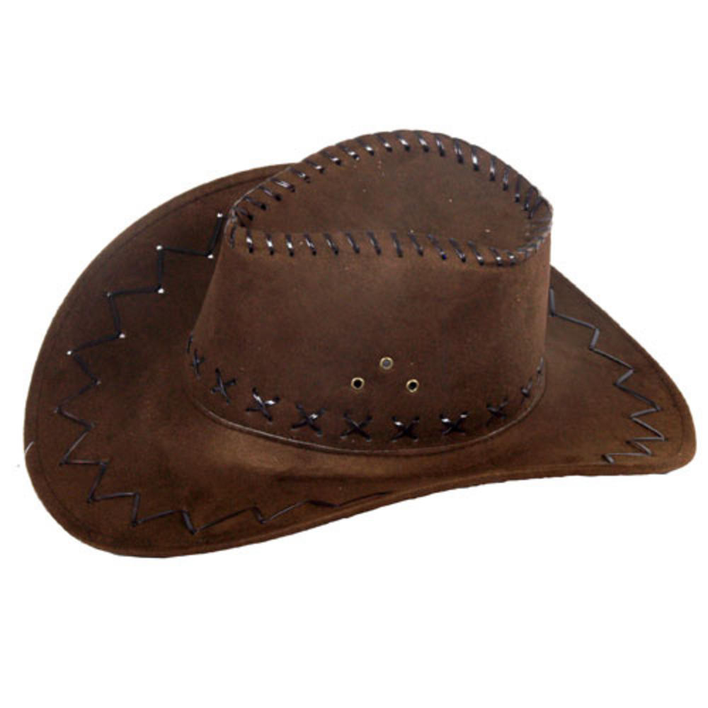 New Quality EVA Brown Fancy Dress 10 Gallon Cowboy Hat 10 Gallon Cowboy Hat Front