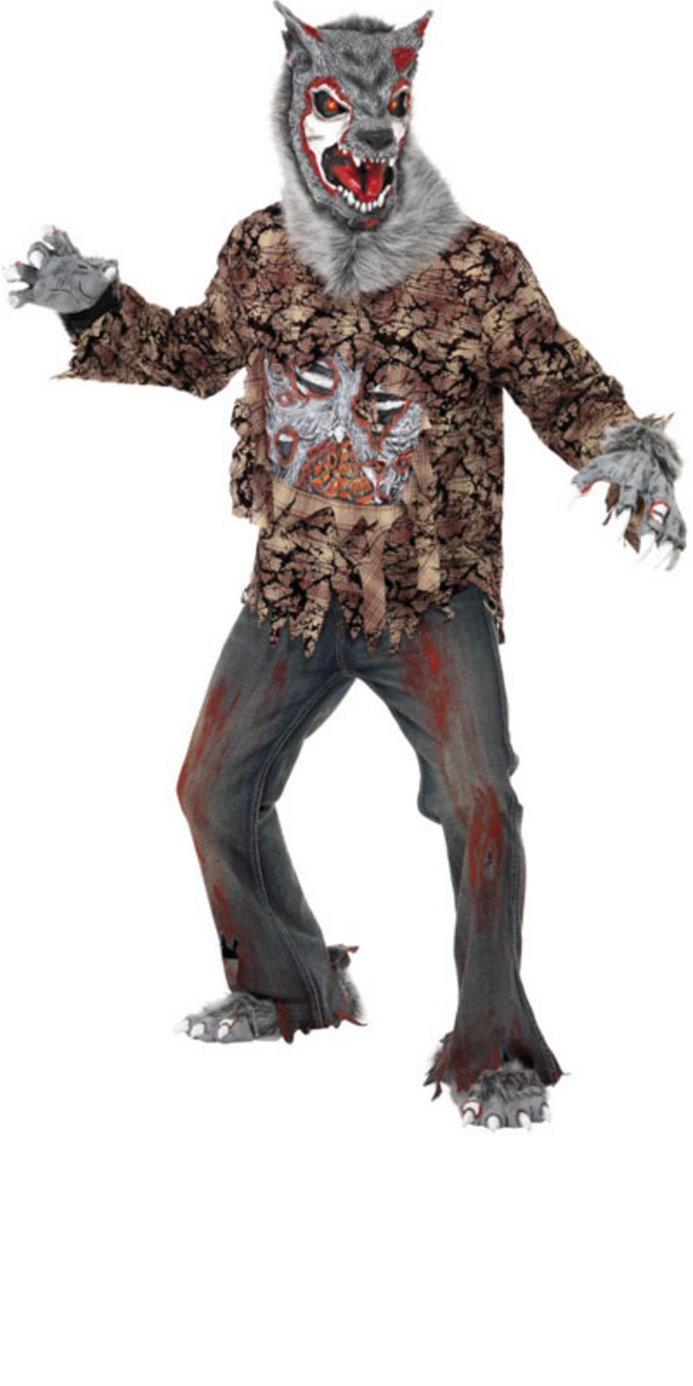 mega sale new smiffys zombie werewolf fancy dress halloween horror costume. Black Bedroom Furniture Sets. Home Design Ideas