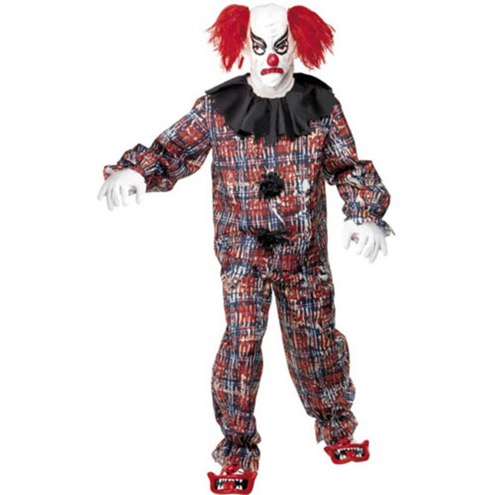 scary clown it fancy dress halloween horror costume. Black Bedroom Furniture Sets. Home Design Ideas