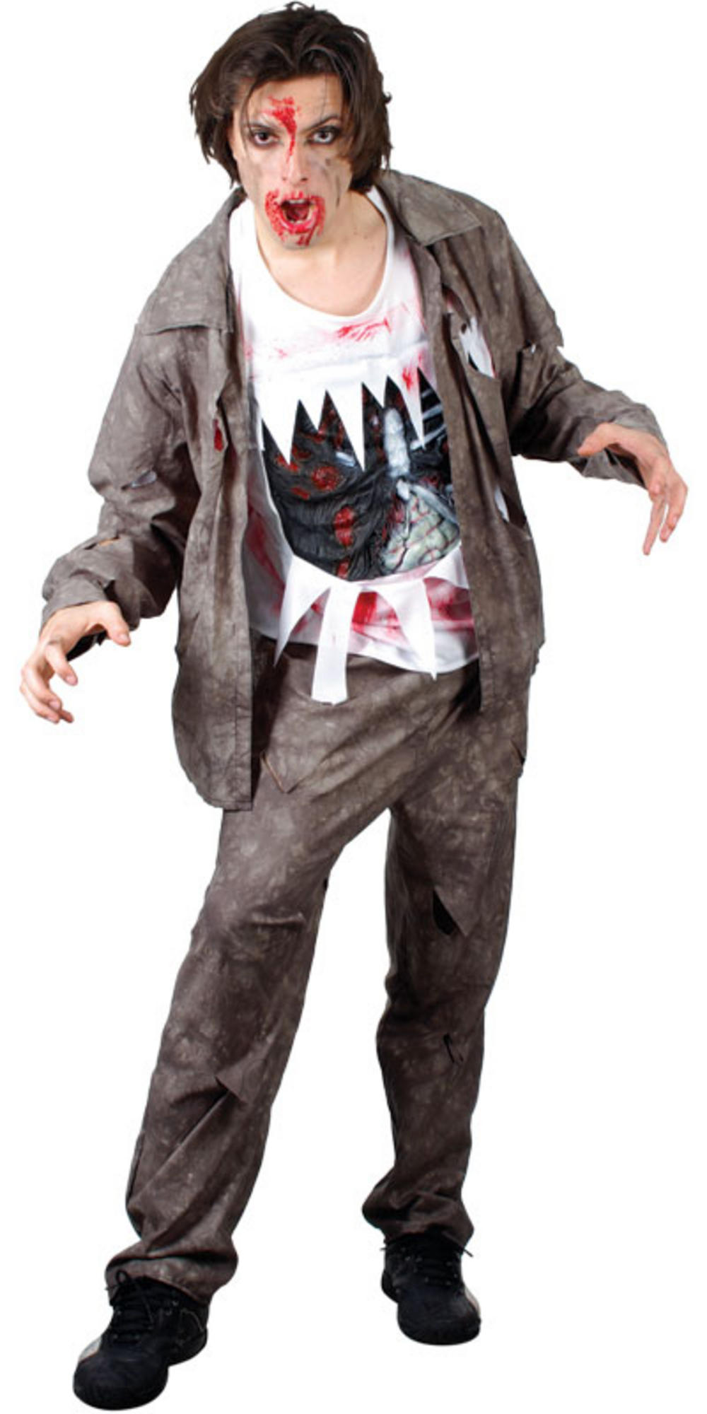 living dead zombie fancy dress halloween horror costume. Black Bedroom Furniture Sets. Home Design Ideas