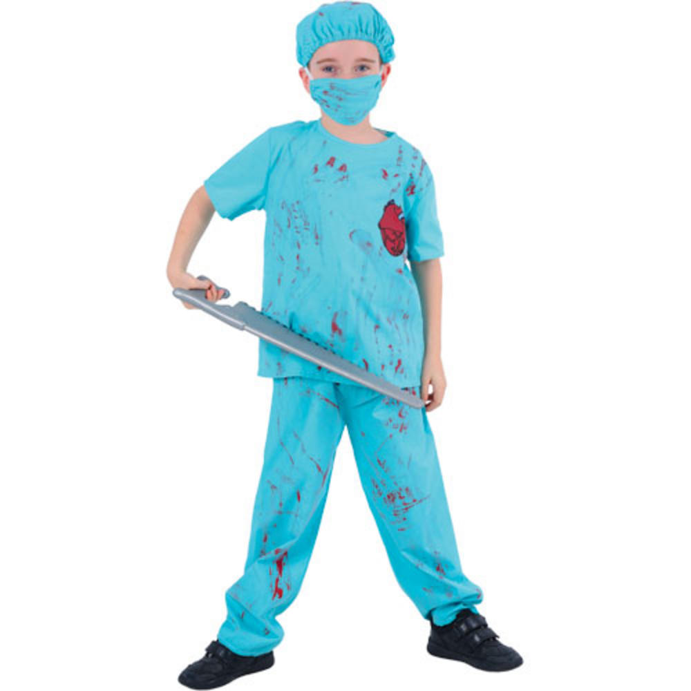 Psycho Surgeon Doctor Boy Fancy Dress Halloween Costume | Boys ...