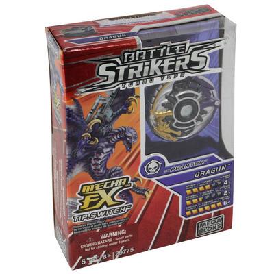 Mega Bloks Battle Strikers Turbo Tops FX Dragun Team Phantom Boys Toy Battling Top