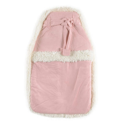 Snuggs Hot Water Bottle With Pink Faux Sheepskin Cover