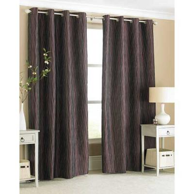 "Carmen Curtains - Gorgeous Ring Top Curtains Plum Colour 145x228cm (56""x90"")"